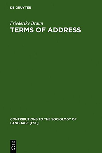 terms-of-address-problems-of-patterns-and-usage-in-various-languages-and-cultures-contributions-to-t