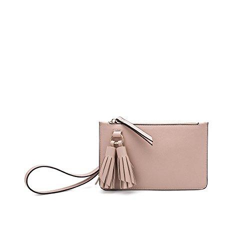 Melie Bianco Farah Designer Convertible Crossbody Clutch Wristlet Handbag - Convertible Handbag Clutch