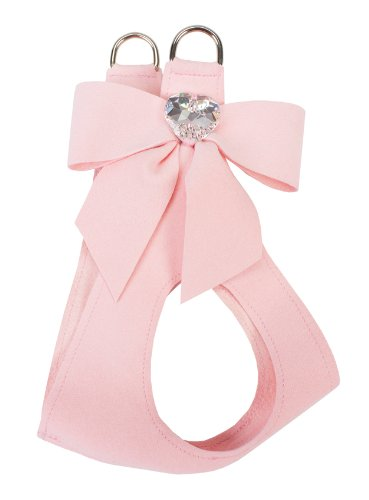 Tail Bow Dog Harness - Puppy Pink (SM) by Susan Lanci Designs