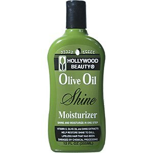 HOLLYWOOD BEAUTY Olive Oil Shine Moisturizer Shine and Moisturizer in One Step 12oz/355ml