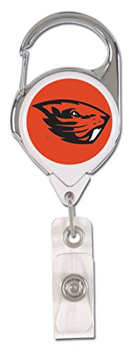 Two Sided Graphics - WinCraft Oregon State Beavers Premium Badge Reel, 2 sided graphics
