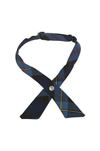 French Cross (French Toast Girls' Adjustable Cross Tie Plaid, Blue/Red Plaid, One Size)