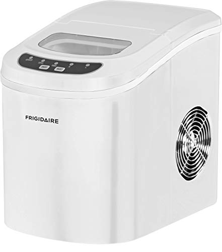 (Frigidaire EFIC108-WHITE Portable Compact Maker, Counter Top Ice Making Machine, White)