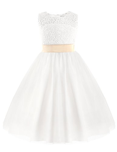 girl white formal dress - 5