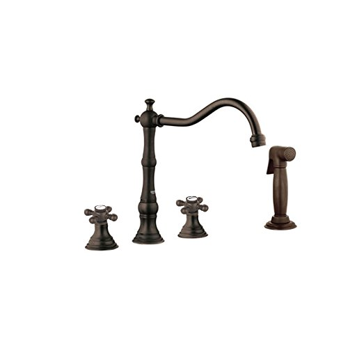 Grohe K20130-18733-ZB0 Bridgeford Lavatory Faucet with Handles and Side Spray