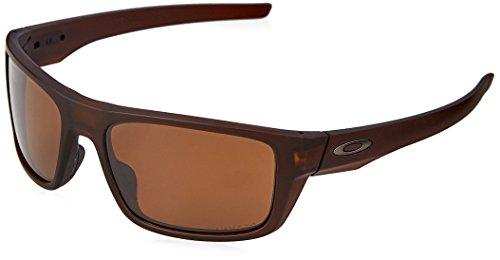Oakley Men's Drop Point Polarized Iridium Rectangular Sunglasses, Matte Rootbeer, 60 - Oakley Rootbeer