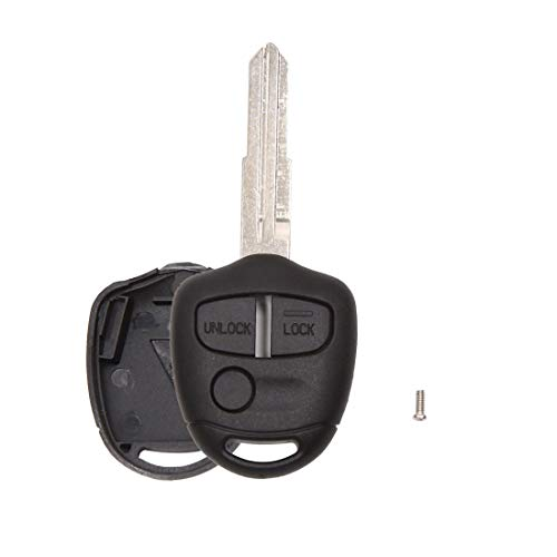 uxcell New 3 Buttons Blank Key Fob Remote Control Case Shell Replacement for Mitsubishi Lancer Outlander Colt EVO Mirage Grandis Shogun Galant ()