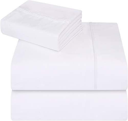(Utopia Bedding 3-Piece Twin Bed Sheet Set - Soft Brushed Microfiber Wrinkle Fade and Stain Resistant -)