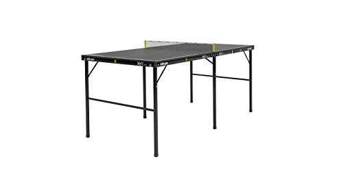Tournament Black Table - Killerspin MYT Lee Table Tennis Table - Small Foldable Black Ping Pong Table with Easy and Quick Setup