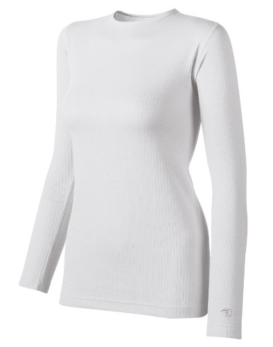 Duofold Women's Mid Weight Wicking Thermal Shirt, White, Medium