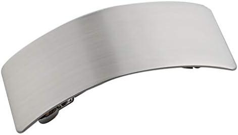 Hellery フランスの曲げられた強いグリップの自動容積のヘアークリップの髪留め - 銀