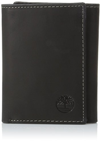 - Timberland Mens Leather Trifold Wallet With ID Window