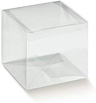 Publilancio Srl 20 Piezas Caja PVC Transparente Automático 12x12x15 cm Bolsas para Peladillas Pe: Amazon.es: Hogar
