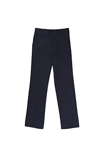 French Toast Little Boys' Flat Front Double Knee Pant, Navy, 6 by French Toast