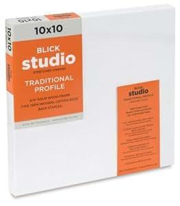 Blick Studio Cotton Canvas - 10 x 10, Traditional Profile Canvas