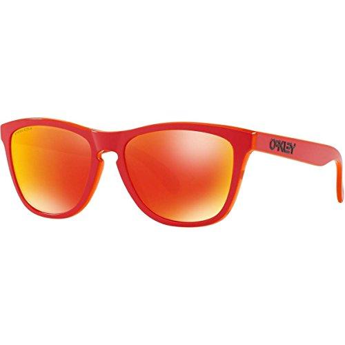 Oakley Men's Frogskins Non-polarized Iridium Square Sunglasses, MATTE RED, 54.7 mm (Blau Frogskins)