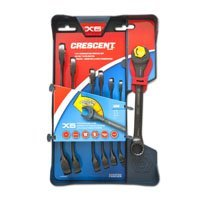 Crescent CX6RWM7 X6 MM Combination Wrench Set with Ratchetin