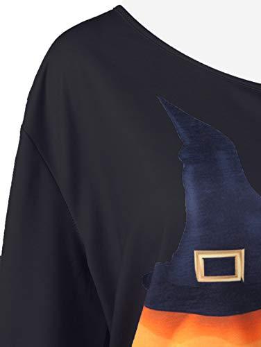 et Tee Halloween Subfamily Hiver A Blouse Tops Longues Haut Shirt imprim Automne XXL Noir Chemisier Manches S Haut w7fwAq
