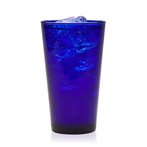 (Libbey Cobalt Flare Tumbler Glasses, Set of 8)