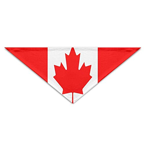 (FFR EGM HAQSK CUFD Eco-Friendly Canadian Flag Bandana Triangle Neckerchief Bibs Scarfs Accessories for Pet Cats and Baby Puppies The Saliva Dog Towel,Soft Head Scarfs Accessories Pet bib Pet Supplies)