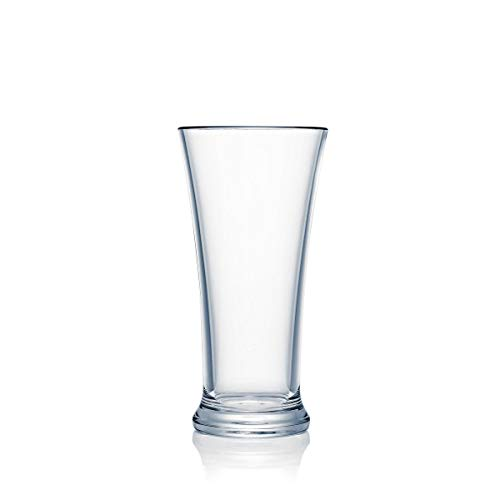 Strahl 41510 Design+Contemporary Large Pilsner Glasses, Set of Four, Clear ()