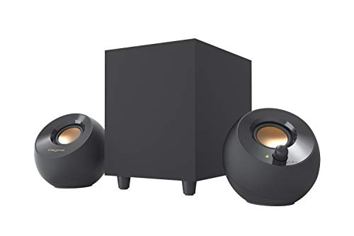 Creative Pebble Plus 2.1 USB-Powered Desktop Speakers with Powerful Down-Firing Subwoofer and Far-Field Drivers, Up to 8W RMS Total Power for Computer PCs and Laptops (Black) (Computer Subwoofer Only)