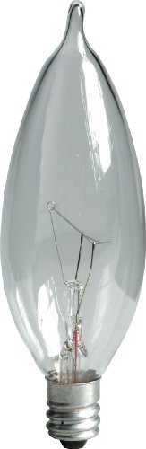 GE 48396-12 15-Watt Crystal Clear Bent Tip CA10, 12-Pack ()