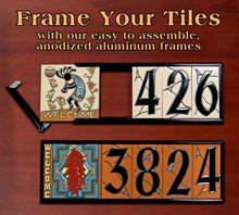 "6"" x 18"" Frame Kit for Earthtones Ceramic Designer & Address Tiles"
