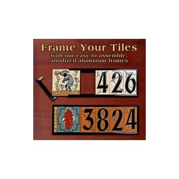 6 x 12 frame kit for earthtones ceramic designer address tiles