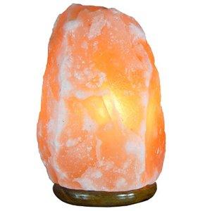 HIMALAYAN SALT SALT LAMP,10IN WOOD BASE, 10 IN