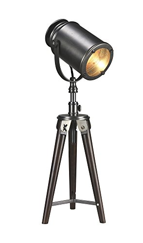 Luxeria L2 LUX1064 Wood & Antique Bronze Industrial Taylor Photographer Table Lamp, Bronze (Photographers Lamp)