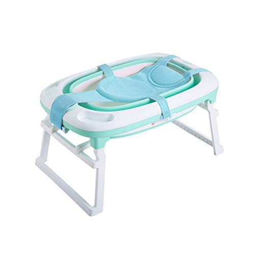 Fenfen-bathtub Bañera Plegable para bebés Bebé recién Nacido Tina de baño para bebés con baño Neto Tallas Grandes para...