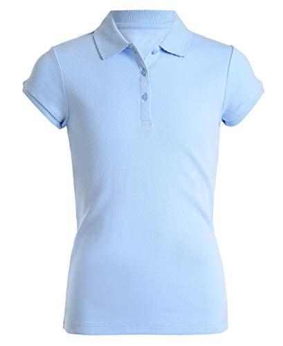 (Nautica Girls' Short Sleeve Polo,Light Blue,XX-Large(20.5) Plus )