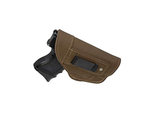 Barsony New Olive Drab Leather IWB Holster for Compact, Sub Compact 9mm 40 45 (Sig P320 Sub-Compact, Right)