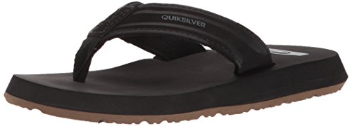 Quiksilver Boys' Monkey Wrench Youth Sandal, Black/Brown, 5(37) M US Big Kid