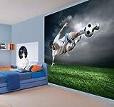 Childrens Footballer Wallpaper Wall Mural Photo Football Sports Ball - 2XL
