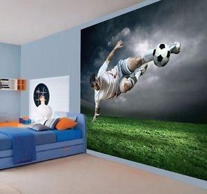 Childrens Footballer Wallpaper Wall Mural Photo Football Sports Ball