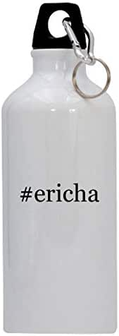 #ericha - 20oz Hashtag Stainless Steel Water Bottle with Carabiner, White