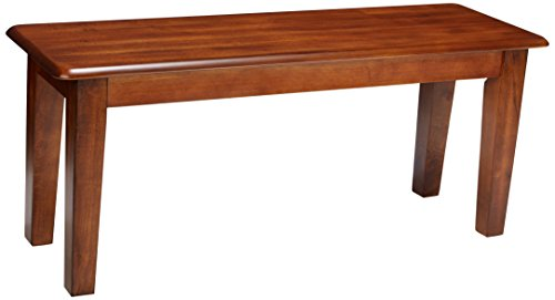 - Ashley Furniture Signature Design - Berringer Dining Bench - Rectangular - Vintage Casual - Rustic Brown Finish