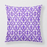 Lightinglife Custom Personalized Damask Decorative Sofa Cushion Purple And White Lavender 18 By 18 Throw Pillow BEISI xdq