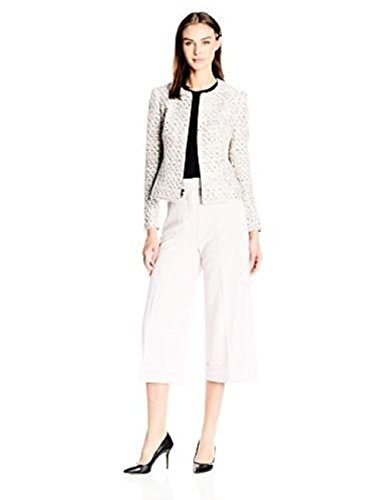 - New Anne Klein Womens Collection Tweed Zip Front Jacket. Size: 12. Color Multicolored.