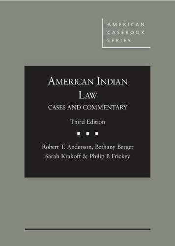 Books : American Indian Law: Cases and Commentary (American Casebook Series)