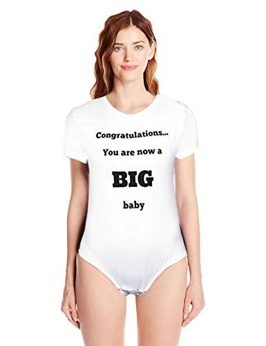 Funny Novelty Birthday Gag Gifts Unisex-Adult Baby Onesies Bodysuits for Men Women ADBL (Large)