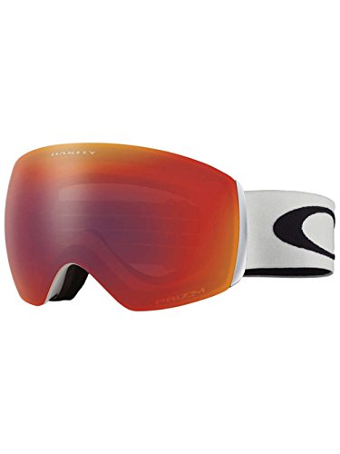 Oakley Flight Deck XM Prizm Goggle Matte White/Prizm Torch Iridium, One - Interchangeable Oakley Goggles Lenses