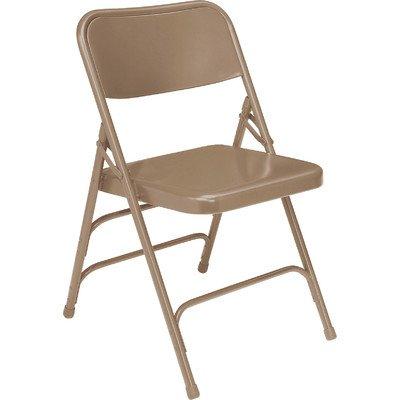 300 Series Triple Brace Steel Folding Chair [Set of 4] Color: Beige