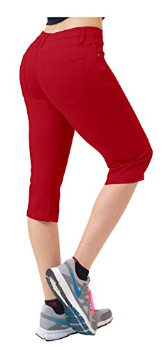 - Super Comfy Stretch Bermuda Shorts Q43308X RED 20