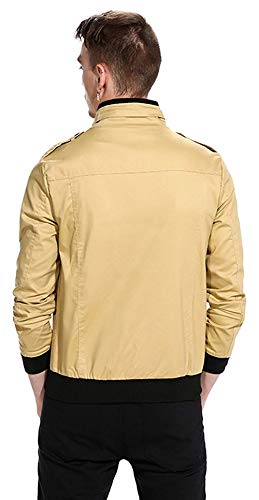 Unisex Jacket Size Basic Outerwear Khaki Sleeve Long De Harrington S Bomber Hop Béisbol Chaquetas fashion Clásico 5 Hip Urban Laisla Color Chicos Chaqueta zXna5xg1w