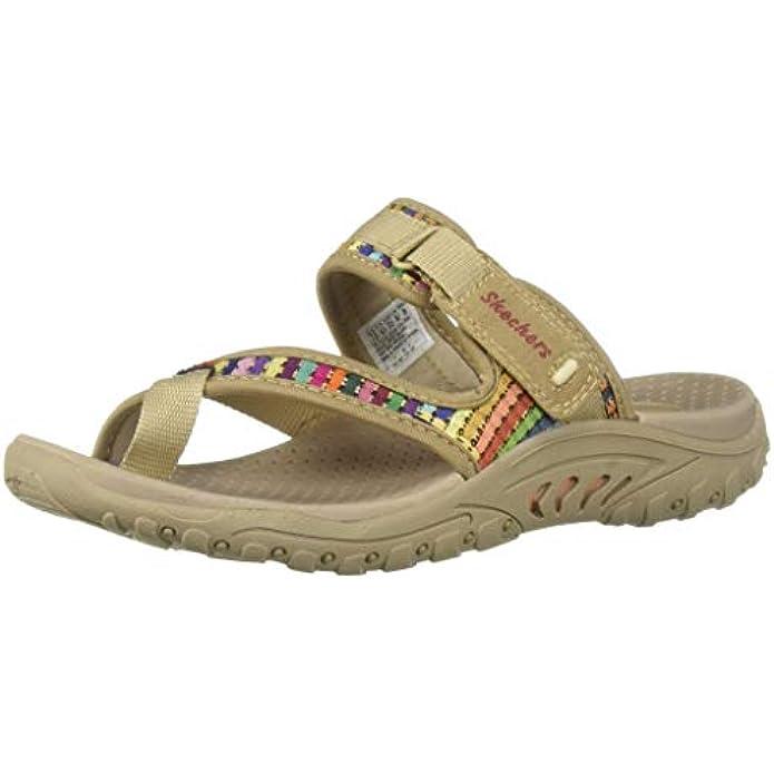 Skechers Women's Reggae-Mad Swag-Toe Thong Woven Sandal