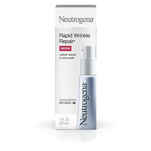 Neutrogena Rapid Wrinkle Repair Hyaluronic Acid Face Serum & Retinol Serum with Glycerin - Anti Wrinkle Serum for Face with Hyaluronic Acid & Retinol for Wrinkles & Dark Circles, 1 ()