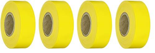 - Brady Yellow Flagging Tape for Boundaries and Hazardous Areas - Non-Adhesive Tape, 1.188